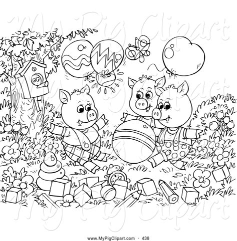 3 little pigs walking coloring pages coloring pages