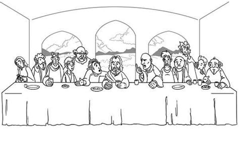 new the last supper coloring page artsybarksy