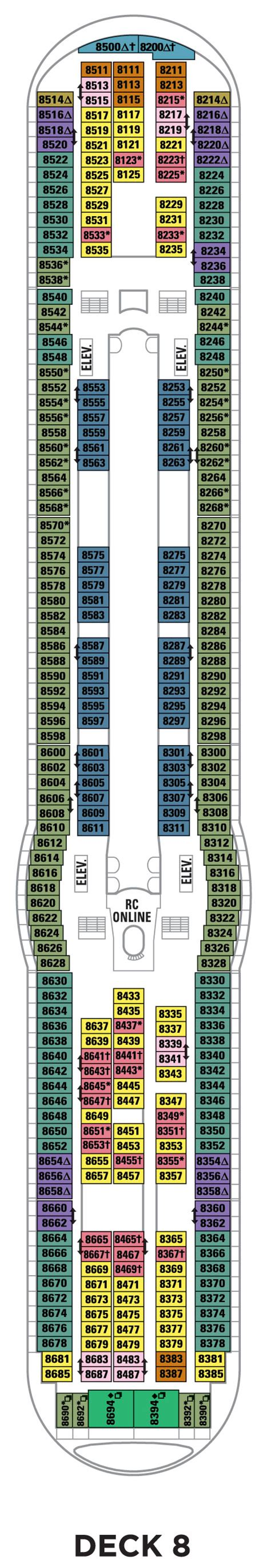 explorer of the seas floor plan deck 8 explorer of the seas deck plans royal caribbean