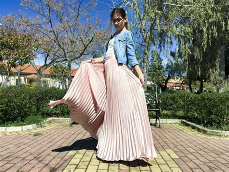 looks stylish traditions to addict maxi skirts in winter 2014 2015 skirt maxi skirt pink pink skirt shein sheinside