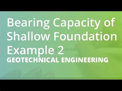 bearing capacity of shallow foundation exle 2