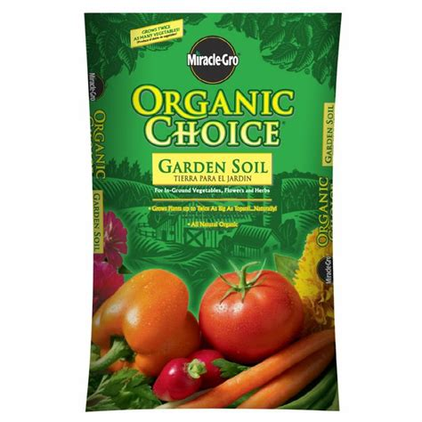 Miracle Gro Organic Choice® Garden Soil   Lowes Employees