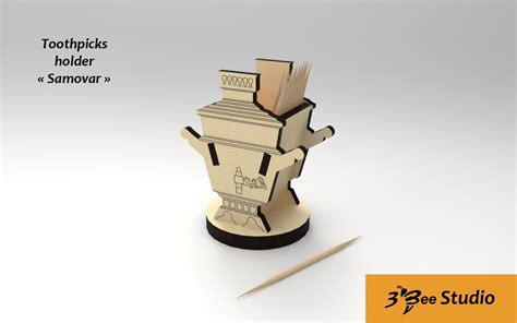 tooth pick holders toothpicks holder samovar plan vector file for cnc 3bee