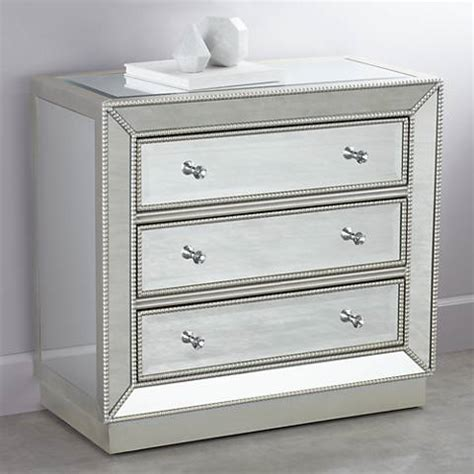 32 Inch Wide Dresser Trevi 32 Quot Wide 3 Drawer Mirrored Accent Chest 2w440
