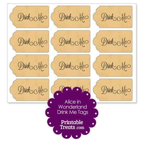printable drink tags 37 best images about alice in wonderland party printables