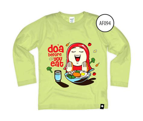 Tas Anak Muslim Doa Before You Go kaos afrakids af094 doa before eat afrakids depok