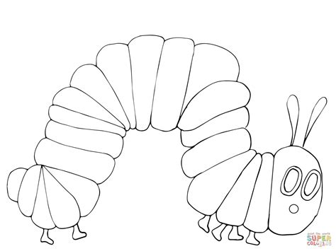 very hungry caterpillar coloring page free printable