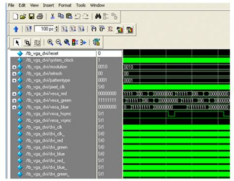 video pattern generator verilog configurable vesa vga and dvi test pattern generator