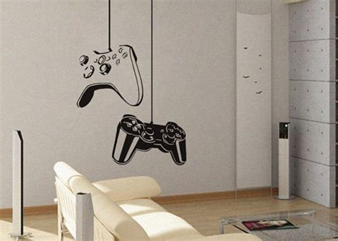 removable wall decals for living room game controller modern xbox ps3 games kids video art