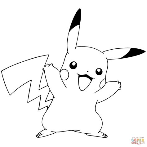 Pikachu Coloring Page Download Chibi Edit Photo sketch template