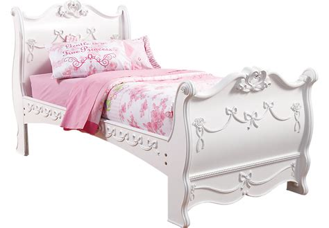 twin princess bed frame disney princess white 3 pc twin sleigh bed beds white