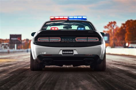 dodge cars dodge challenger srt would make for a diabolical cop