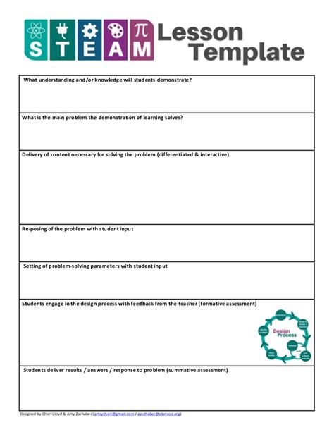 Steam Lesson Template Fillable Fields Steam Lesson Plan Template