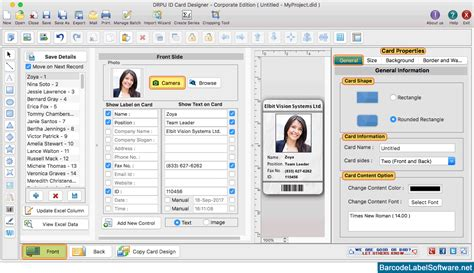 id card design software for mac id card designer corporate edition for mac screenshots to