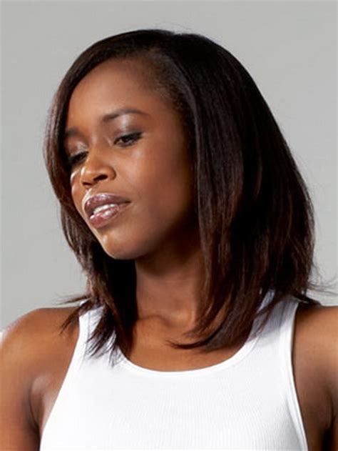 picture of shoulder length hair on african american women shoulder length black hairstyles
