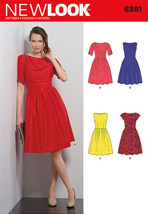dress pattern of 2015 new look 6391 misses dresses
