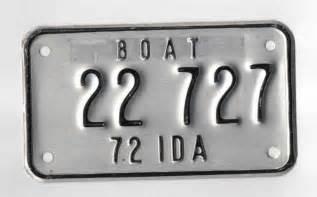 idaho boat license vintage 1972 idaho boat license plate number 22 727
