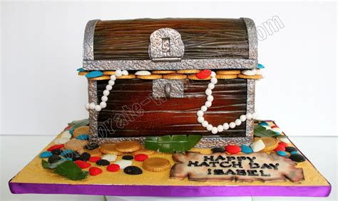 celebrate with cake treasure chest cake