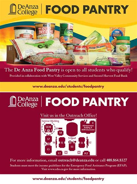 Food Pantry Assistance by De Anza College Office Of Outreach Relations With