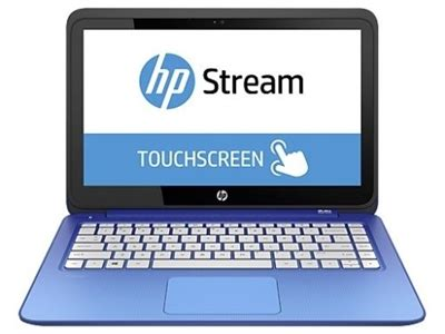 """hp stream 13.3"""" blue touch screen laptop factory"""