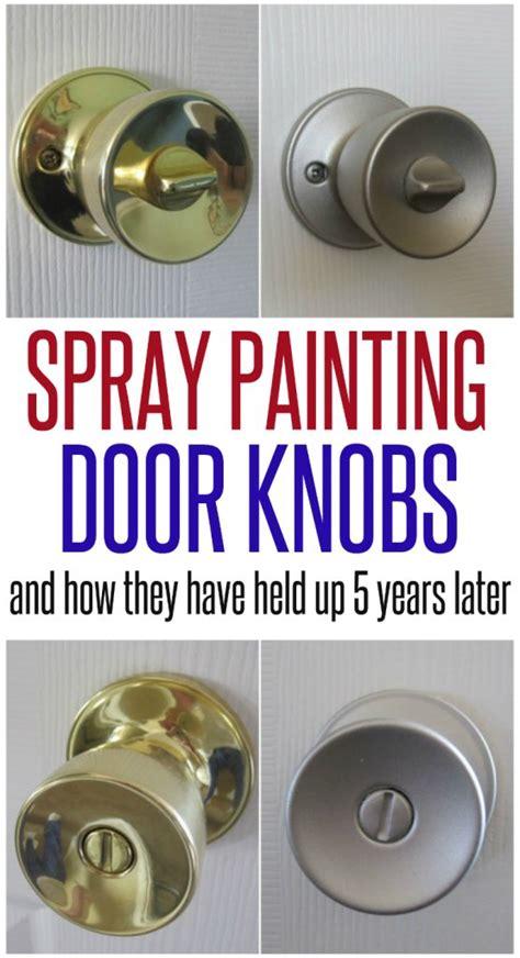 Spray Paint Door Knob by Spray Painted Doorknobs Pt 2 Infarrantly Creative