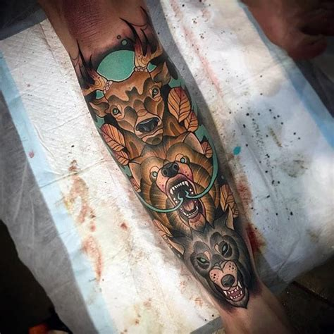 totem pole tattoos 100 animal tattoos for cool living creature design ideas