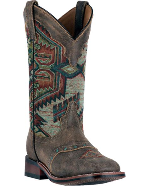 womens square toe boots laredo s taupe with aztec top boots square toe