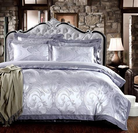 regal luxury cotton blend sateen duvet bedding set 4 pcs