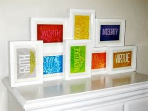yw value colors lds values 4x6 prints all eight values