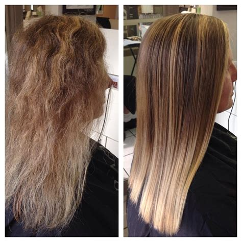 salon treatments for curly hair before and after of the pravana smoothout treatment this