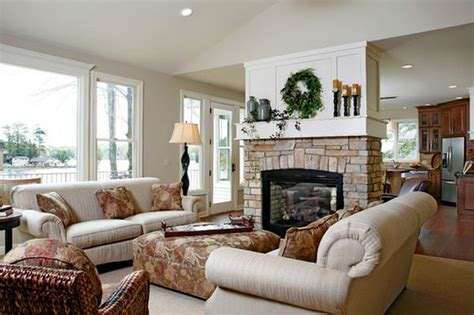 Living Room With Fireplace And Kitchen 100 Fireplace Design Ideas For A Warm Home During Winter