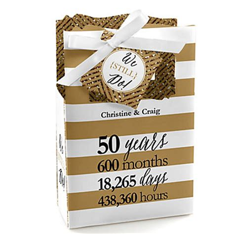 50th Wedding Anniversary Giveaways - we still do 50th wedding anniversary personalized wedding anniversary favor boxes