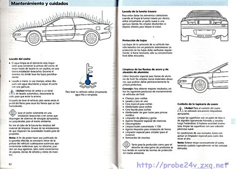 car service manuals pdf 1993 ford probe seat position control ford probe owners manual pdf download autos post