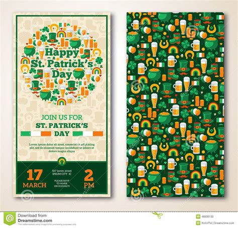 set of vintage happy st patrick s day greeting stock