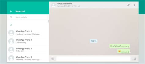 whatsapp web version messenger for web