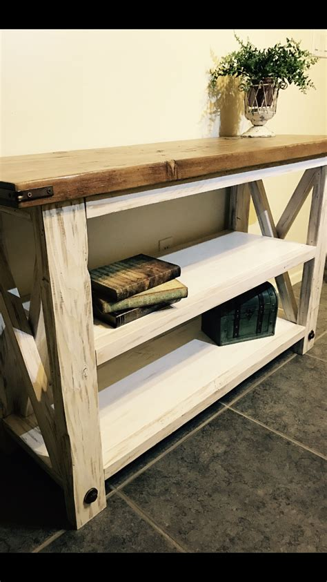 rustic white console table rustic white console tables pine