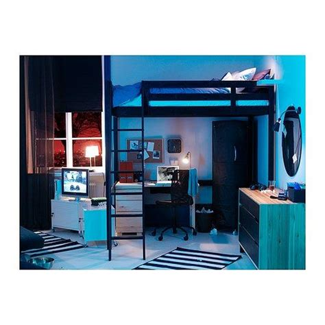 Storå Loft Bed Frame Black Stor 197 Loft Bed Frame Black 163 203 23 Ikea I Used To This Bed Fantastic Space Saver If