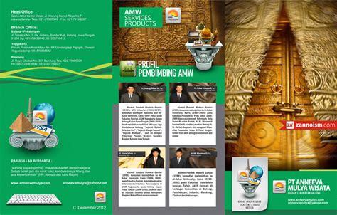 desain brosur flyer desain brosur travel haji umrah jakarta selatan jasa