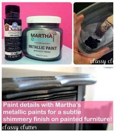 tutorial on martha stewart metallic paint for furniture furniture grey and vanities