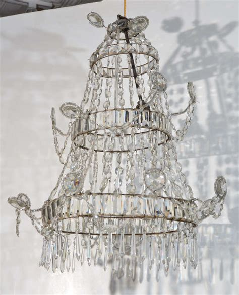 cut glass chandeliers neoclassical cut glass chandelier for sale at 1stdibs