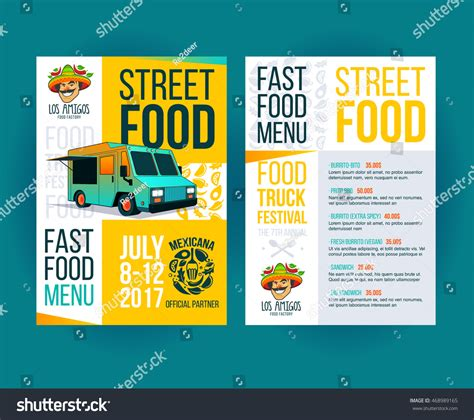 Creative Party Invitation On Food Truck Stock Vector 468989165 Shutterstock Food Truck Flyer Template