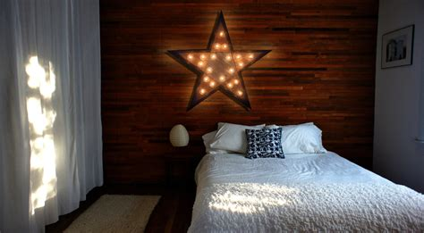 home decor star reclaimed wood marquee star w lights shabby chic