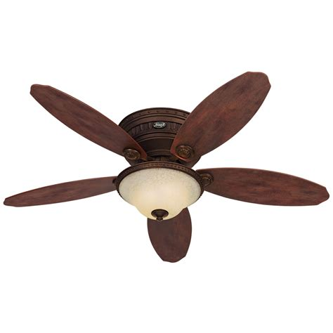 Avignon Ceiling Fan Shop Hunter Avignon 52 In Tuscan Gold Flush Mount Ceiling