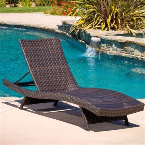 Hotel Pool Lounge Chairs by Lakeport Outdoor Adjustable Pe Wicker Chaise Lounge Chair