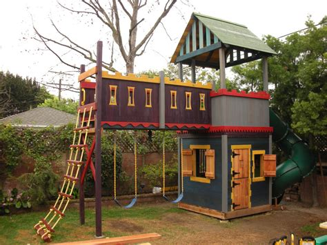 castle swing set plans castle playhouse on pinterest playhouse plans wooden
