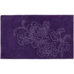 purple bath mats rugs creative bath lines cotton bath rug purple 21 quot x 34