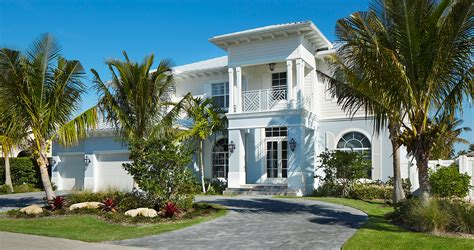 Tropical Beach Cottage Exterior Beach Style With Sliding Glass Door White House White House » Home Design 2017
