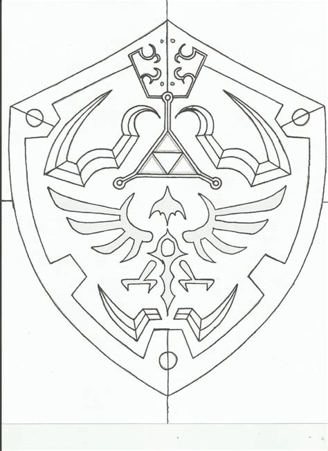 Hylian Shield Outline by Hylian Shield Template By Revandarque On Deviantart