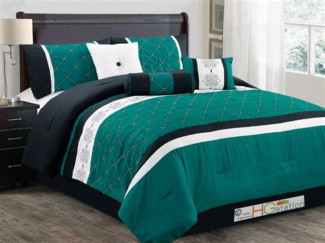 Black And Teal Comforter Set by 7p Prairie Floral Lattice Comforter Set Teal