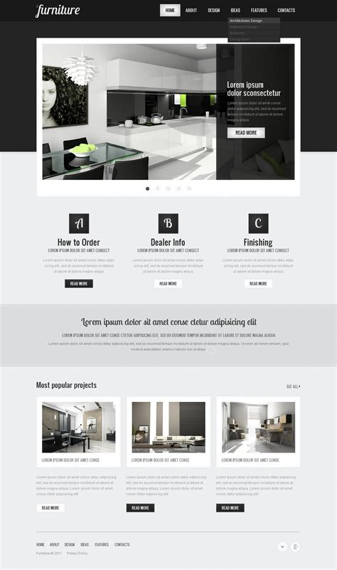 templates for furniture website furniture website template 36599